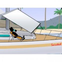 Swi-Tec - RollTop - Taud / toile déroulante, protège du soleil et de la pluie