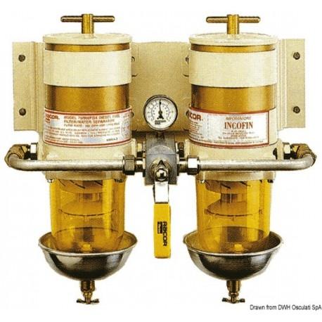 Filtres RACOR - Version double avec vanne de sélection