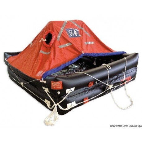 Radeau professionel autogonflable Deep-Sea Compact - Solas MED