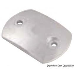 Plaque en zinc bombée