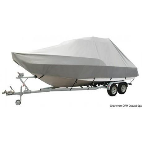 Bâche Jumbo pour embarcations avec cabine de pilotage  / T-TOP