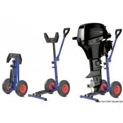 Chariot avec roues pliables