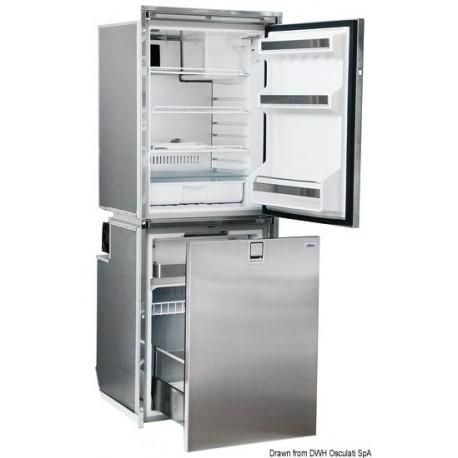 Réfrigérateur ISOTHERM frontal Inox - double compartiment