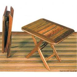 Table pliante en teck réglable en hauteur ARC