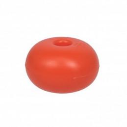 Flotteur plastique orange D75mm trou 13mm