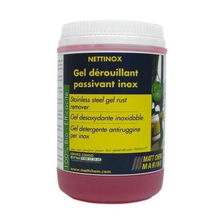 MATT CHEM - NETTINOX - Gel dérouillant nettoyant passivant inox